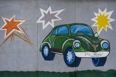 Auto auf der Wand vektor abbildung