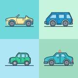 Auto automobiele convertibele cabriolet taxicabine mini Stock Afbeelding