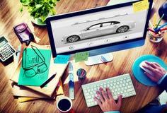 Auto Automoblie-Transporter-Eleganz-Konzept lizenzfreie stockfotografie