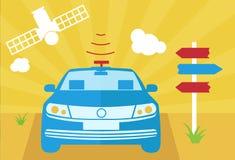Auto-azionamento dell'illustrazione di vettore dell'automobile Fotografie Stock Libere da Diritti