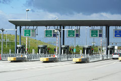 Auto bahn toll, Highway pass system Royalty Free Stock Image