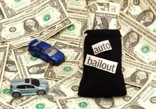 Auto Bailout. Concept image representing bailout of the auto industry Royalty Free Stock Image