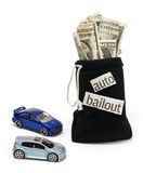 Auto Bailout. Concept image representing bailout of the auto industry Stock Images