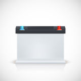 Auto battery, front view. Stock Images