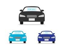 Auto bedrijfspictogrammen Stock Foto