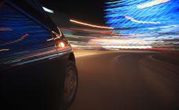 Auto bij nacht Royalty-vrije Stock Afbeelding