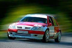 Auto bij snelheid Royalty-vrije Stock Afbeeldingen