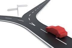 Auto bij wegspleet stock illustratie
