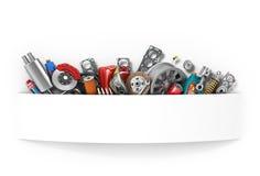auto bil inom mekanikerserviceworking royaltyfri illustrationer