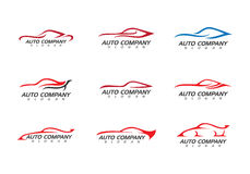 Auto bil Logo Template Arkivbilder