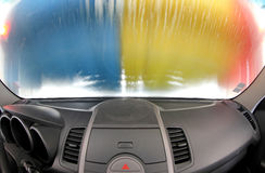 Auto binnen carwash Royalty-vrije Stock Foto's