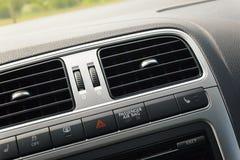 Auto binnenlandse ventilatie stock foto