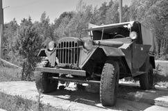 Auto blanco y negro de la foto Fotos de archivo