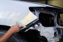 Auto body repair series stock image