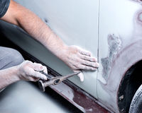 Auto body work Royalty Free Stock Photos