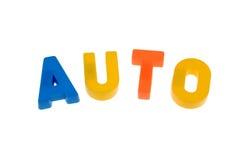 auto bokstäver royaltyfri foto