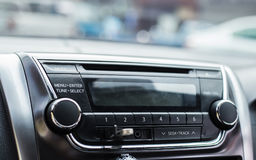 Auto botões audio do controle Fotos de Stock