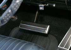 Auto Brake Pedal. On a classic car Royalty Free Stock Images