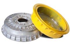 Auto brake wheels Stock Images