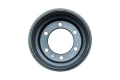 Auto brake wheels. Isolated on. White with clipping path Stock Photos