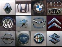 Auto brennt Collage ein Lizenzfreie Stockbilder