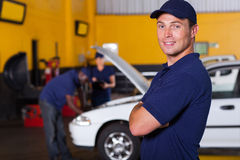 Auto business owner stock images