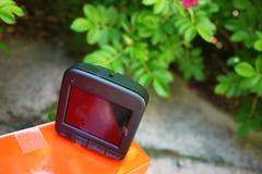Auto camcorder vertoning Videorecorder om de verkeerssituatie te registreren terwijl het drijven van uw auto royalty-vrije stock afbeeldingen