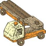 Auto caminhão de madeira Fotos de Stock