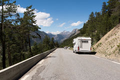 Auto-camper on the road Royalty Free Stock Photography