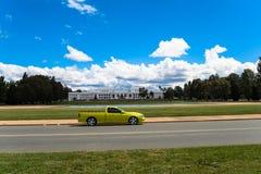 Auto Captital Parlament Australien-Canberra Lizenzfreies Stockbild
