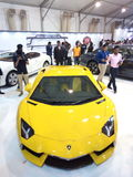 Auto car and bike show. Lamborghini.......Evry man's dream royalty free stock image