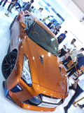 Auto car and bike show. Nissan....catching up with competiton. Fastest indian car to come stock photos