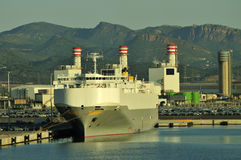 Auto car carrier ship Stock Photo