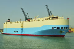 Auto car carrier ship. Designed for transportation of cars Royalty Free Stock Photo