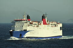 Auto car carrier ship Stock Images