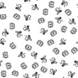 Auto Car Charge Battery Clamp Seamless Pattern stock illustration