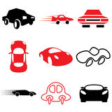 Auto and car icons Royalty Free Stock Photography