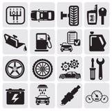 Auto Car icons Royalty Free Stock Image