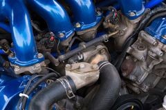 Auto car modern motor macro. Auto car modern motor close up Stock Images