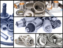 Auto Car Parts, Collage Royalty Free Stock Photos