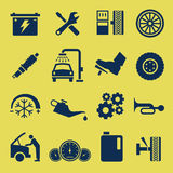 Auto Car Repair Service Icon Symbol. A set of car repair and service icons Royalty Free Stock Images
