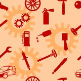 Auto Car Repair Service Icon Symbol. Stock Photo