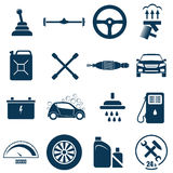 Auto Car Repair and Service Icon. Auto Car Repair Service Icon Symbol Set Royalty Free Stock Image