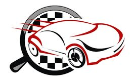 Auto Car Solutions. Logo Design Template Vector Stock Images