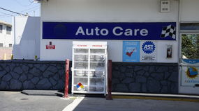 Auto Care Shop. The auto care shop is about to maintain your car in good condition and repair Royalty Free Stock Photography