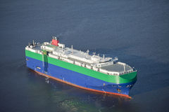 Auto carrier ship at sea Royalty Free Stock Images