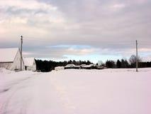 Auto cemitério no inverno Fotografia de Stock
