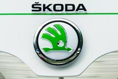 24 2011 auto Chengdu międzynarodowych loga fotografii Sep przedstawienie skoda brać Obrazy Stock