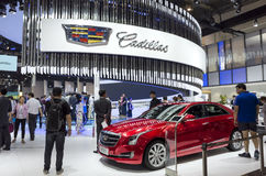 Auto China 2016. Cadillac booth in 2016 Beijing International Automotive Exhibition, in May,Beijing city, China Royalty Free Stock Images
