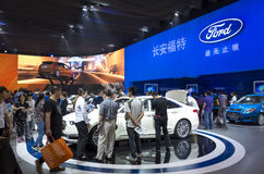Auto China 2016. CHANGAN FORD booth in 2016 Beijing International Automotive Exhibition, in May,Beijing city, China Stock Photo